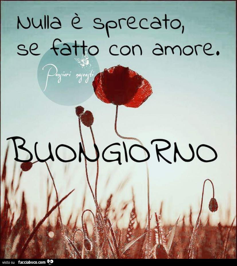 Popolare Nulla è sprecato, se fatto con amore. Buongiorno - Facciabuco.com DN53